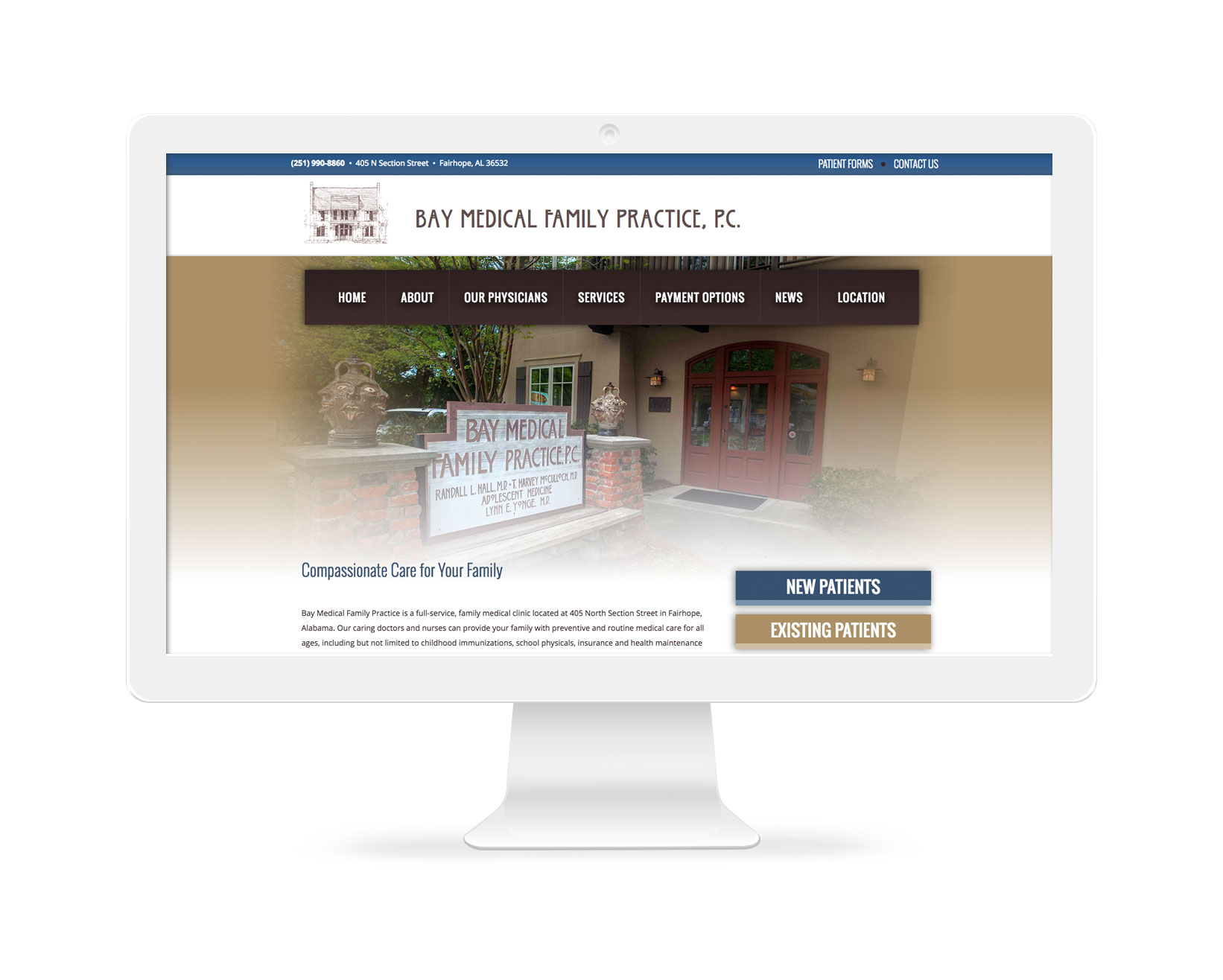Bay Medical Family Practice - Medical Website Design Fairhope, AL