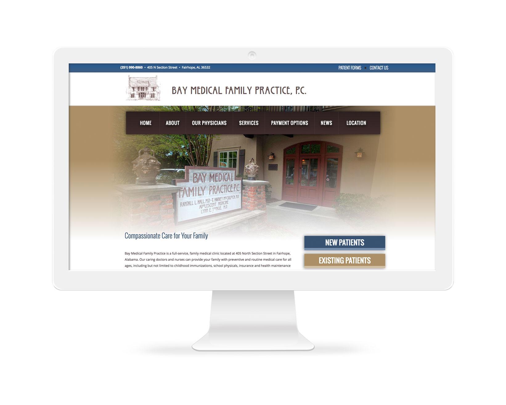 Bay Medical Family Practice - Medical Website Design Fairhope, AL