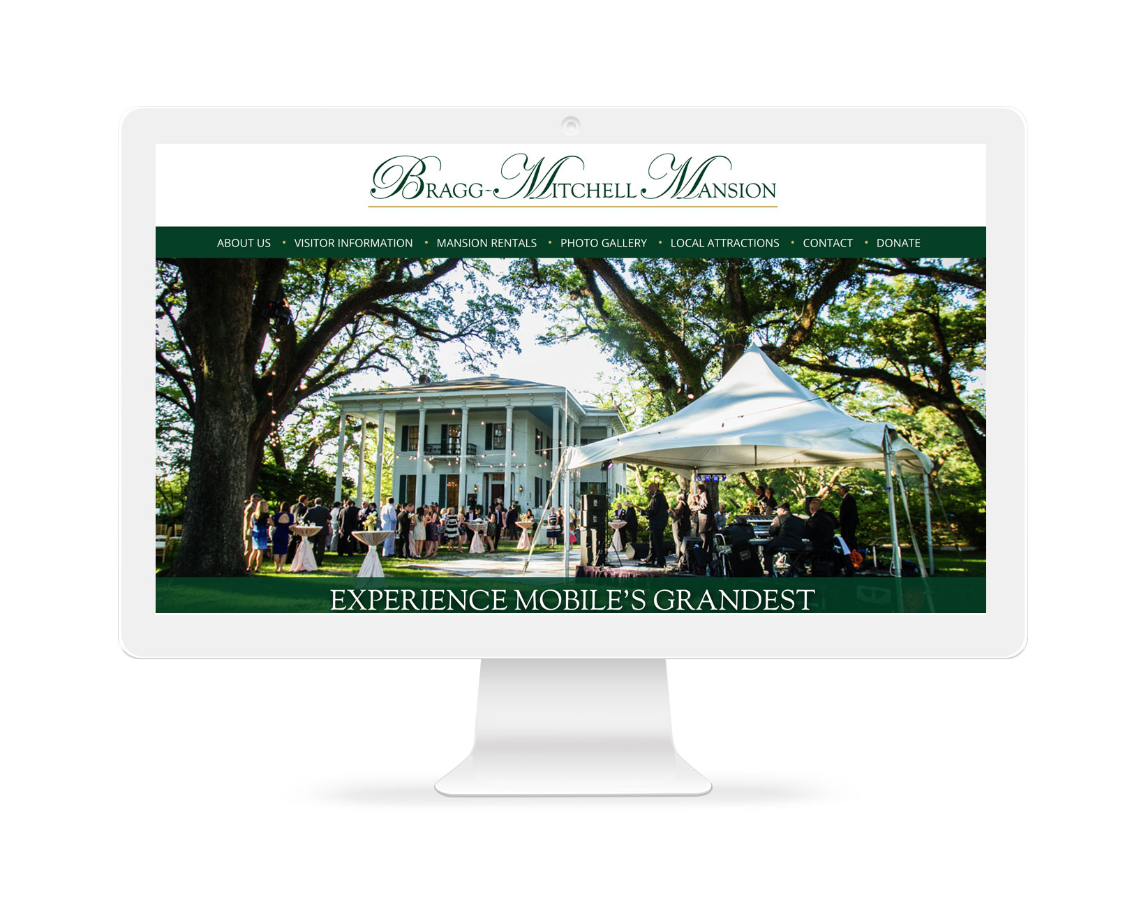 Bragg-Mitchell Mansion - Website Design - Mobile, AL