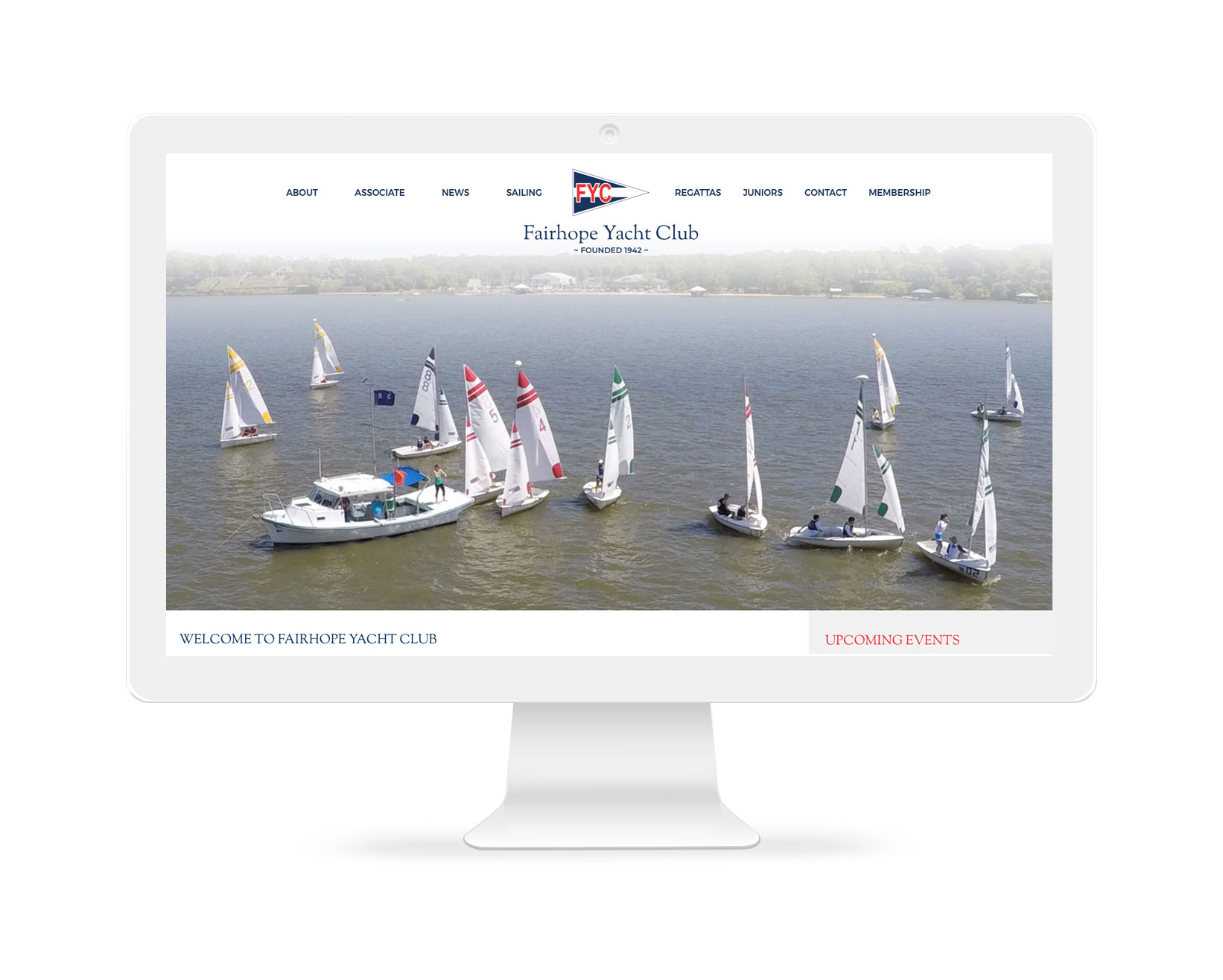 Fairhope Yacht Club - Web design Fairhope, Alabama